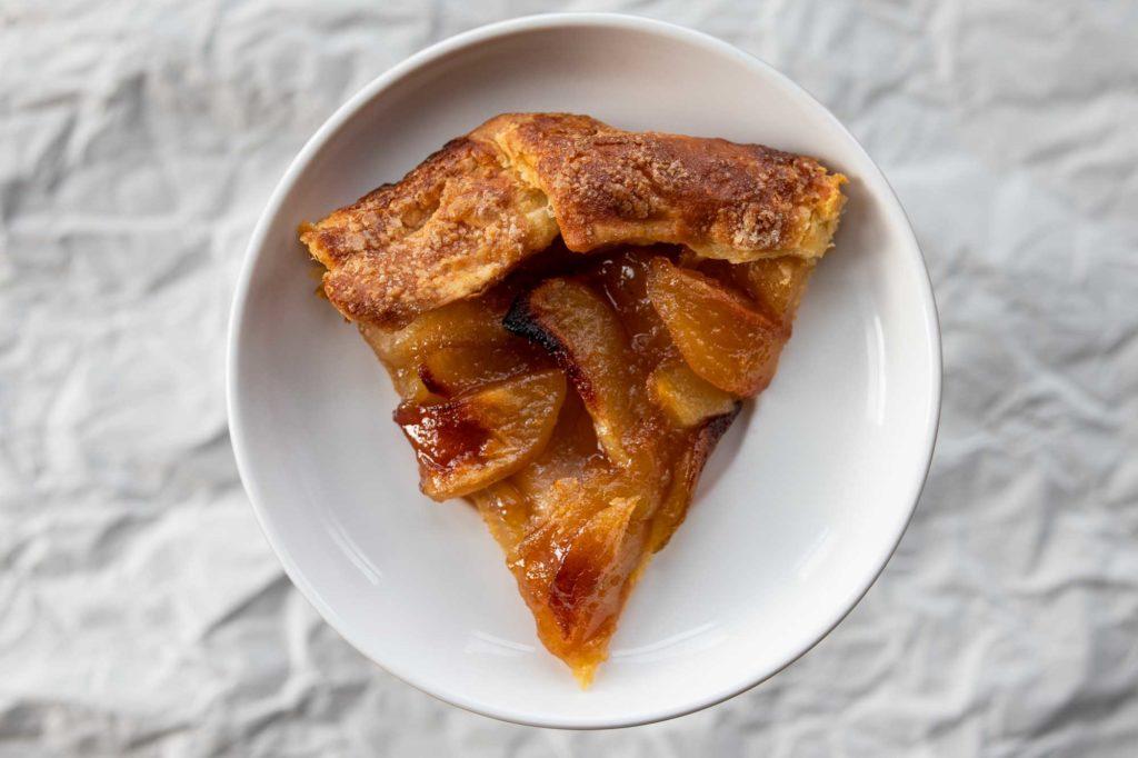 ginger apple galette slice