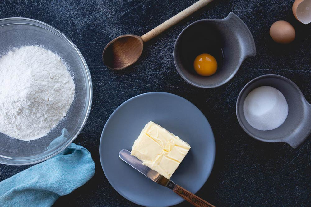 ingredients for shortcrust