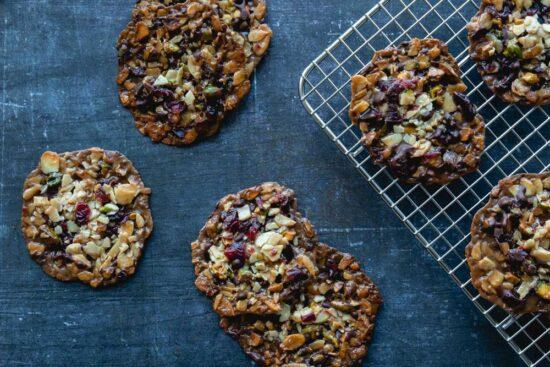pistachio cranberry florentine biscuits