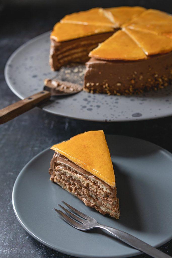 slice of dobos torte