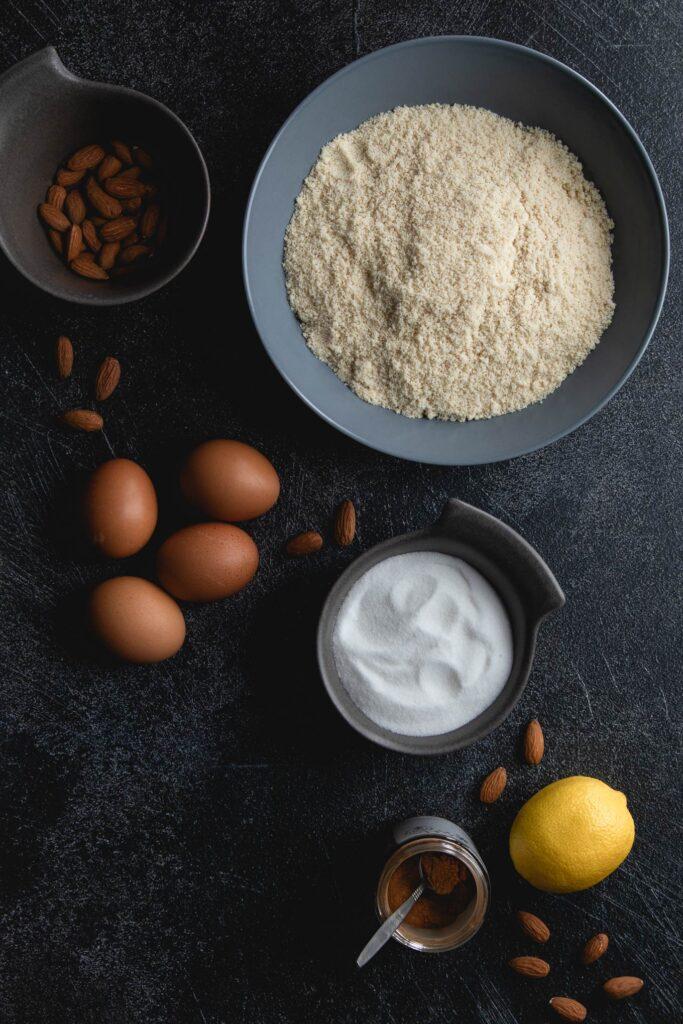 ingredients for tarta de santiago