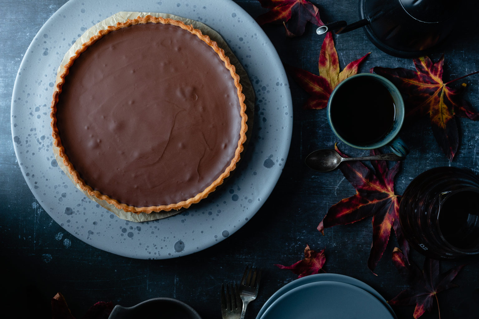 tarte au chocolate: French chocolate tart